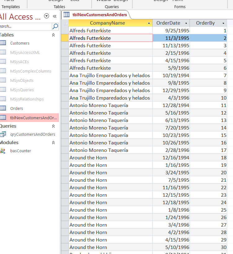 MS Access Running Count With String Column And Duplicates |