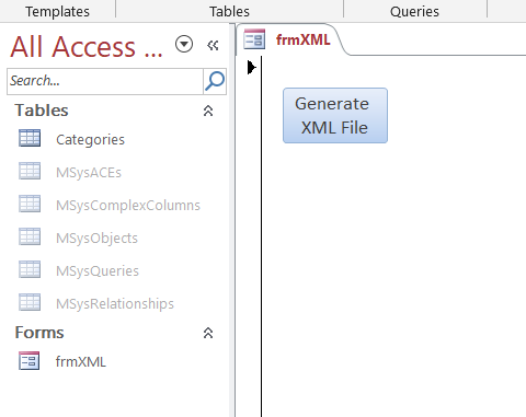 How To Generate A XML File With Access VBA