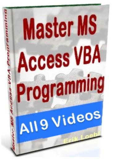 MS Access VBA Programming All 9 Video Modules