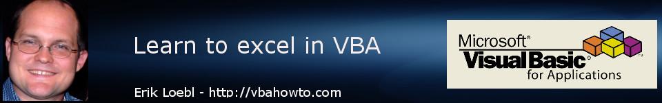 Free VBA tutorials