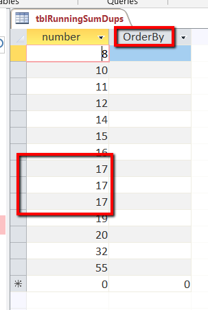 MS Access Running Count With Duplicates